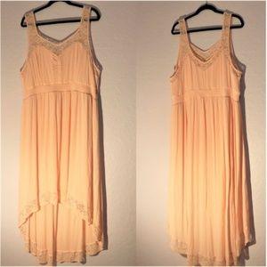 Torrid Pink Hi/Low Lace Detail Dress 3X